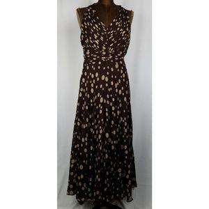 Jones New York silk sleeveless maxi dress 4